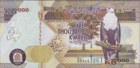 Sambia / Zambia P.45f  5000 Kwacha 2010 (1)