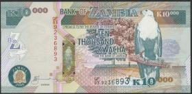 Sambia / Zambia P.46e 10000 Kwacha 2008 (1)