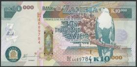 Sambia / Zambia P.46f 10000 Kwacha 2009 (1)