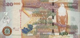 Sambia / Zambia P.47e  20000 Kwacha 2009 (1)