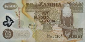 Sambia / Zambia P.43c 500 Kwacha 2004 Polymer (1)