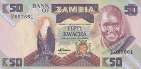 Sambia / Zambia P.28e 50 Kwacha (1986-88) (1)