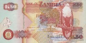 Sambia / Zambia P.37a 50 Kwacha 1992 (1)