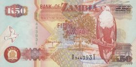 Sambia / Zambia P.37b 50 Kwacha 1992 (1)