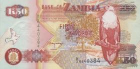 Sambia / Zambia P.37c 50 Kwacha 2001 (1)