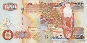 Sambia / Zambia P.37d 50 Kwacha 2003 (1)