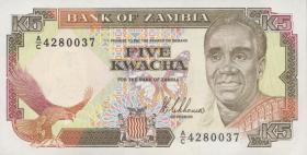 Sambia / Zambia P.30 5 Kwacha (1989) (1)