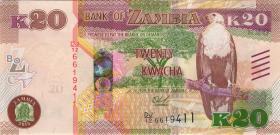 Sambia / Zambia P.59 20 Kwacha 2015 (1)