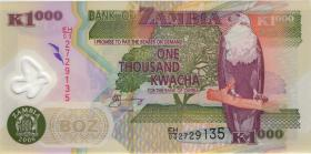 Sambia / Zambia P.44e 1000 Kwacha 2006 Polymer (1)