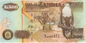 Sambia / Zambia P.39d 500 Kwacha 2003 (1)