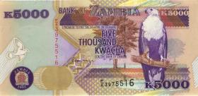 Sambia / Zambia P.41a 5000 Kwacha 1992 (1)