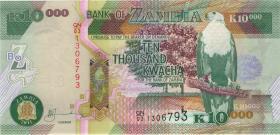 Sambia / Zambia P.46g 10.000 Kwacha 2007 (1)