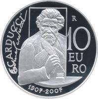 San Marino 10 Euro 2007 Carducci PP