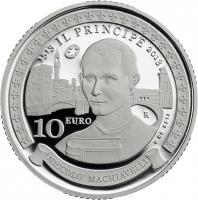 San Marino 10 Euro 2013 Machiavelli