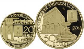 San Marino 20 + 50 Euro 2013 (Gold) Castello di Serravalle