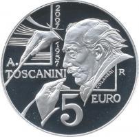 San Marino 5 Euro 2007 Toscanini PP