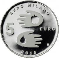 San Marino 5 Euro 2015 Expo Mailand 2015