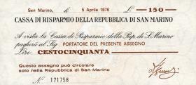 San Marino P.S101 150 Lire 1976 (1-)