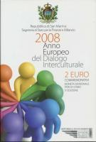 San Marino 2 Euro 2008 Jahr des Dialogs