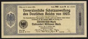 100.000.000 Mark Schatzanweisung 10.10.1923 (1-)
