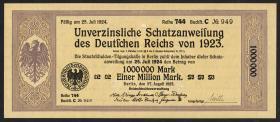 1.000.000 Mark Schatzanweisung 27.8.1923 (1)