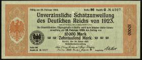 10.000 Mark Schatzanweisung 26.1.1923 (1-)