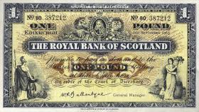 Schottland / Scotland Royal Bank P.324b 1 Pound 1963 (2)