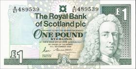 Schottland / Scotland Royal Bank P.351a 1 Pound 1988 (1)