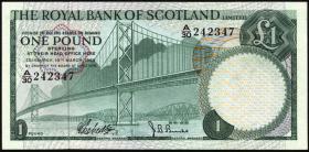 Schottland / Scotland P.329a 1 Pound 1969 (1)