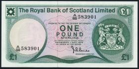 Schottland / Scotland P.336a 1 Pound 1975 (1)