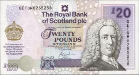 Schottland / Scotland P.361 20 Pounds 2000 Gedenkbanknote (1)