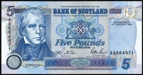 Schottland / Scotland P.119a 5 Pounds Sterling 1995 (1)