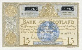 Schottland / Scotland Bank of Scotland P.106d 5 Pounds Sterling 1967 (2+)