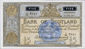 Schottland / Scotland Bank of Scotland P.101b 5 Pounds 1960 (1)