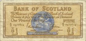 Schottland / Scotland P.105a 1 Pound 1966 (3)