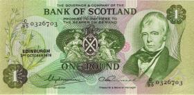 Schottland / Scotland P.111c 1 Pound 1978 (1-)