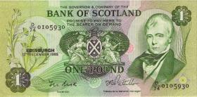 Schottland / Scotland P.111f 1 Pound 1985 (2)