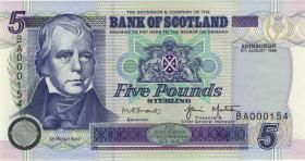 Schottland / Scotland P.119c 5 Pounds Sterling 1998 (1)