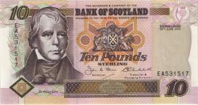 """Schottland / Scotland P.120d 10 Pounds Sterling 2001 """"Jubiläum"""" (1)"""