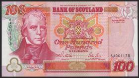"""Schottland / Scotland, Bank of Scotland P.123a 100 Pounds 1995 """"Jubiläum"""" (1)"""