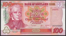 """Schottland / Scotland, Bank of Scotland P.123b 100 Pounds 1997 """"Jubiläum"""" (1)"""