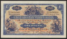 Schottland / Scotland P.189b 1 Pound 1941 (1)