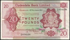 Schottland / Scotland P.200 20 Pounds 1964 (3)