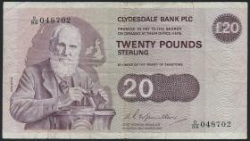 Schottland / Scotland P.215b 20 Pounds 1982 (3-)