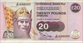 Schottland / Scotland Clydesdale Bank P.220b 20 Pounds 1993 (1)