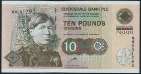 Schottland / Scotland P.229A 10 Pounds 2000 Gedenkbanknote (1)