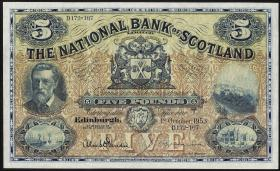Schottland / Scotland National Bank P.259d 5 Pounds 1953 (1)