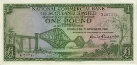 Schottland / Scotland National Commercial Bank P.269 1 Pound 1961 (1)