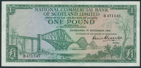 Schottland / Scotland National Commercial Bank P.269 1 Pound 1961 (2)