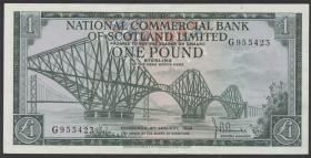 Schottland / Scotland National Commercial Bank P.274 1 Pound 1968 (2+)